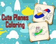 Cute Planes Coloring