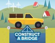 Bau eine Brücke