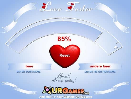 Love Test Spiele