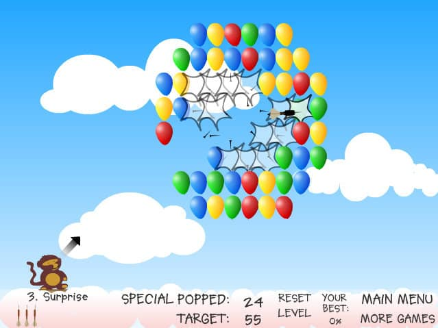 Ballons Abschießen